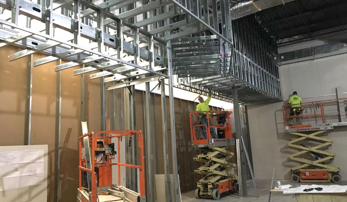 Metal Framing Retail Office - Reshetar Systems